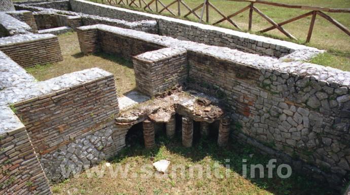 Saepinum - Ipocausto del tepidarium